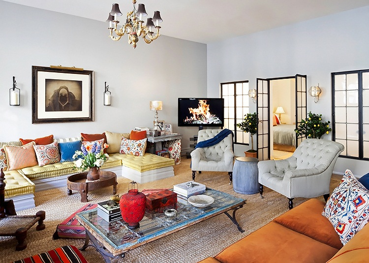 Eclectic Style New York Apartment interior design home interior decorating 16
